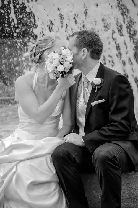 Hochzeitsfotos schwarz-weiß