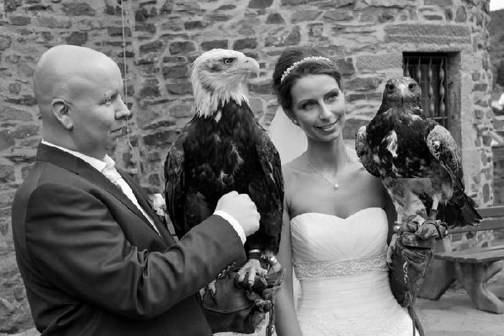 Freigehege Greifvögel Hochzeit