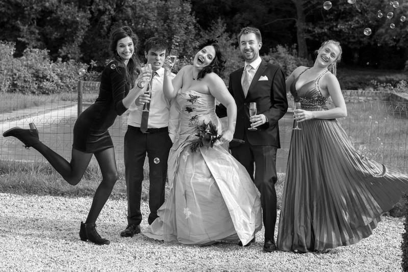 Hochzeitsfeier Sektempfang